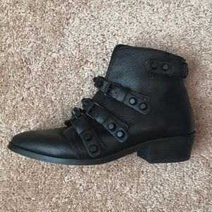 Gianni Bini Leather Stud Booties